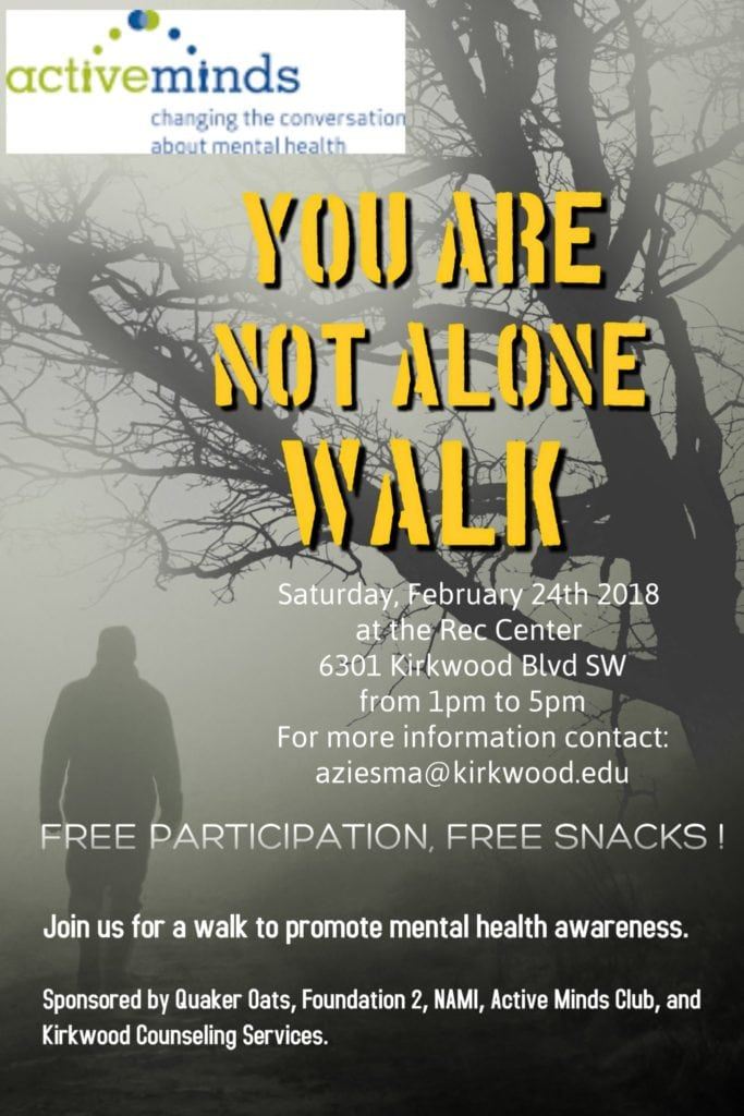 You Are Not Alone Walk @ Kirkwood Rec Center